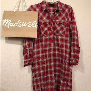 Madewell Plaid Daywalk Long Sleeve dress
